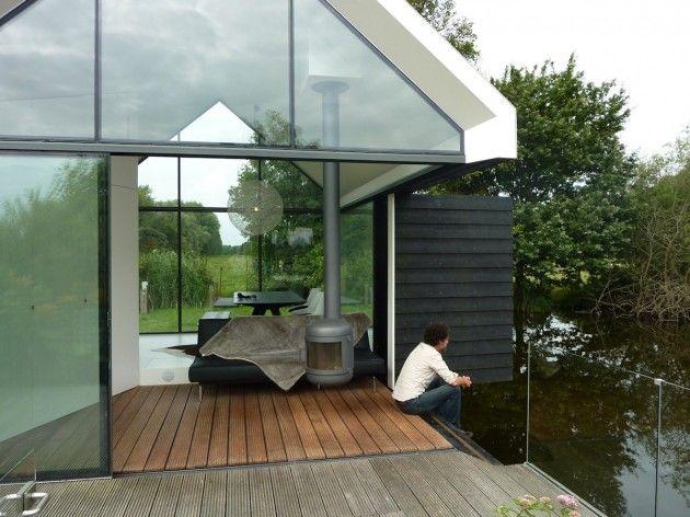 small modular house terrace