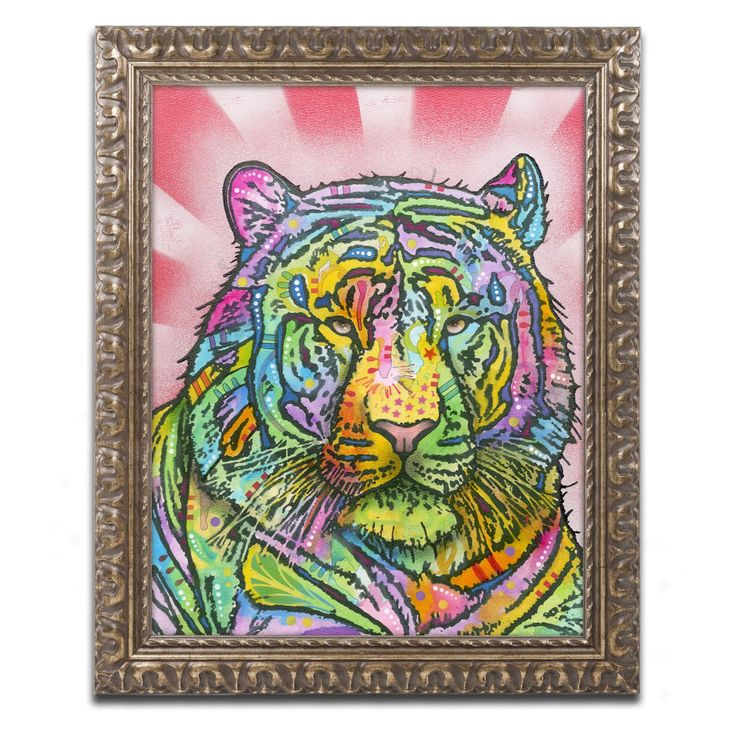 Trademark Fine Art Dean Russo Tiger II Framed Wall Art - ALI1400-G1114F