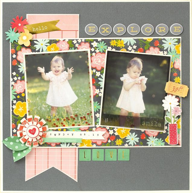 Pebbles Inc: Explore From Me to You {Layout}