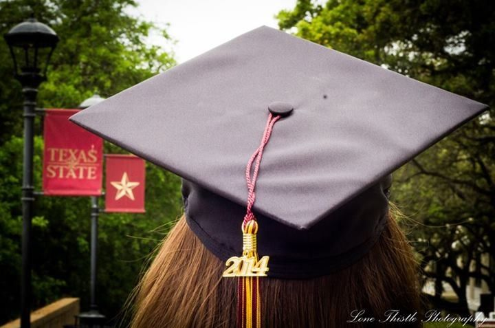 Texas State University graduation pictures