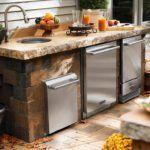 40+ Ideen für kleine Außenküchen