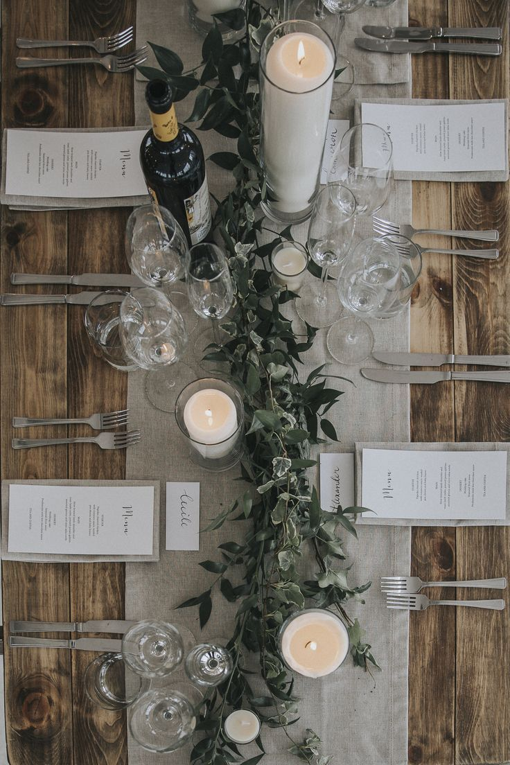 Wooden bench tables for an industrial wedding in London