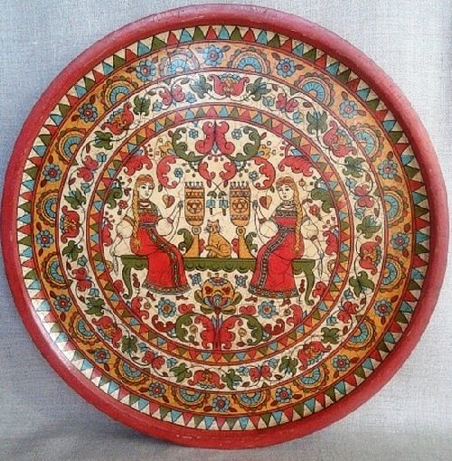 Decorative plate hand-painted in Severodvinsk style & 1056 best ????? ????????????! / DECORATIVE PLATES! images on ...