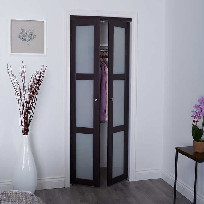 Renin - Euro Style Tempered Glass Pivot Closet Door