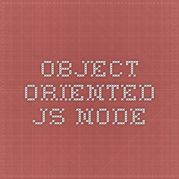 object oriented js node