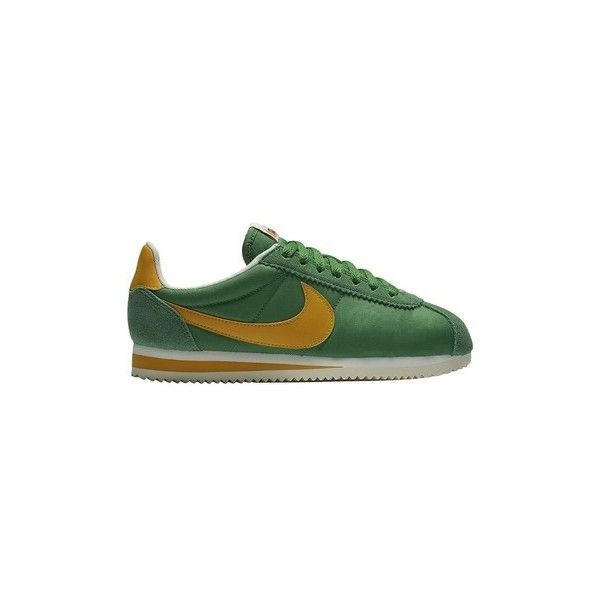 Nike Wmns Classic Cortez Nylon Prem Shoes (Trainers) ($200) ❤ liked on Polyvore featuring shoes, sneakers, multicolour, trainers, women, multi coloured shoes, multi color shoes, multi colored shoes, nike shoes and multicolor sneakers