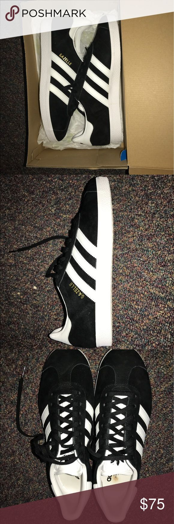Black New Adidas Gazelle (female 8) Had for 2 months, never worn before. Too big Adidas Shoes Sneakers