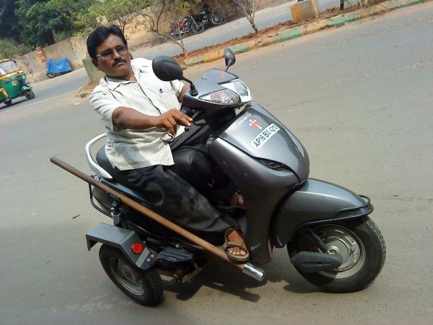 India: scooters for the physically handicapped. | Jugaad + Frugal Innovation | Pinterest | Scooters