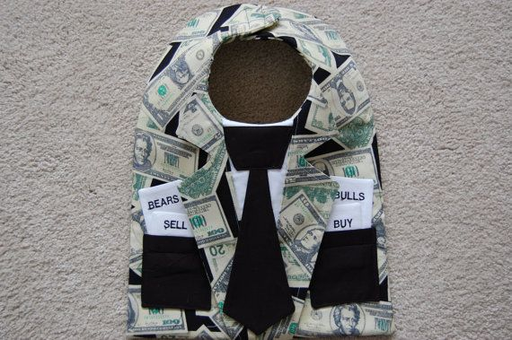 The Stock Trader Jacket Wall Street Bib por CarolynsClassics