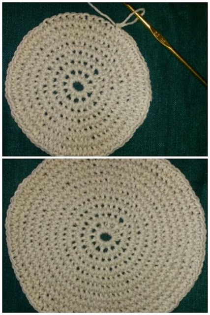 Crochet basket basket base using packing twine - pattern