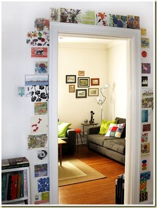 great way to display all your postcards