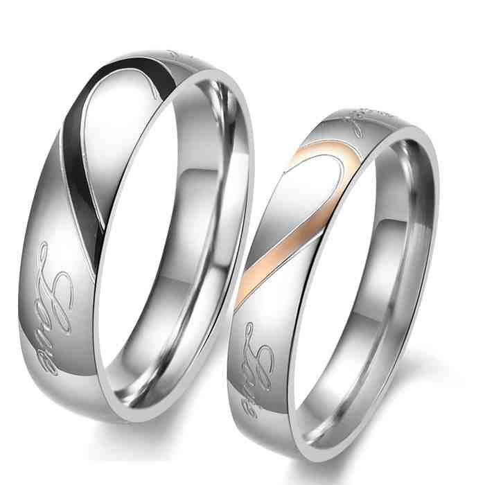 matching titanium wedding rings - Titanium Wedding Rings For Her