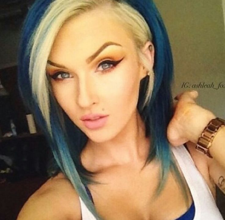 Blue And Blonde Alternative Dyed Hair Colorful Hair Pinterest Dye Hair Blondes And Hair