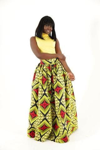 Bangui African Maxi Skirt - HouseOfSarah14