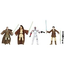 STAR WARS - Star Wars Battle of Geonosis: Jedi Knights Pack - 3.75 inch Action Figure - Que-Mars Redath, Khaat Qiyn, Sel