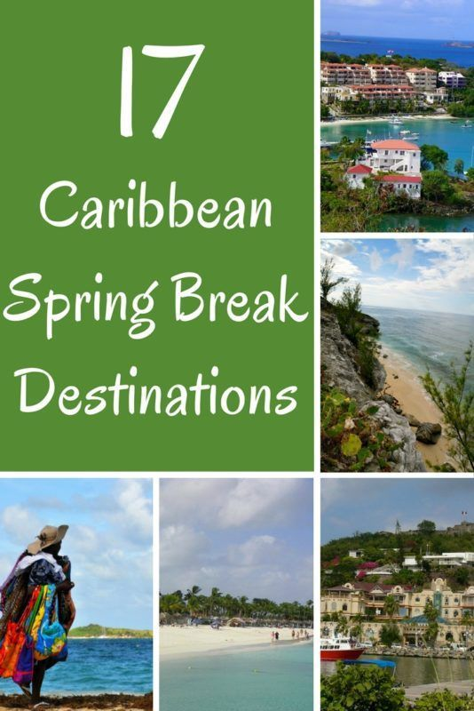 Here are 17 fabulous spring break destinations in the Caribbean and surrounding tropical areas. #springbreak #springbreak2018 #caribbean #travel