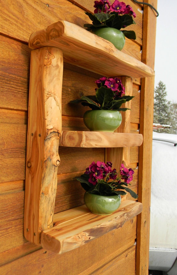 aspen log wall shelf by AspenSpirit on Etsy, $178.00