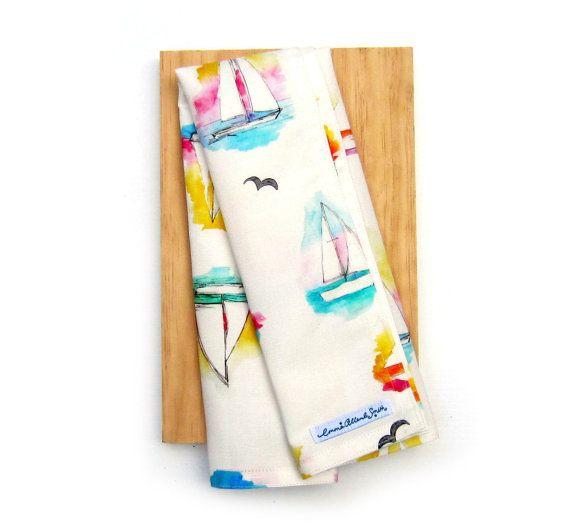 Coastal Tea Towel Unique Print by Emma Allard Smith