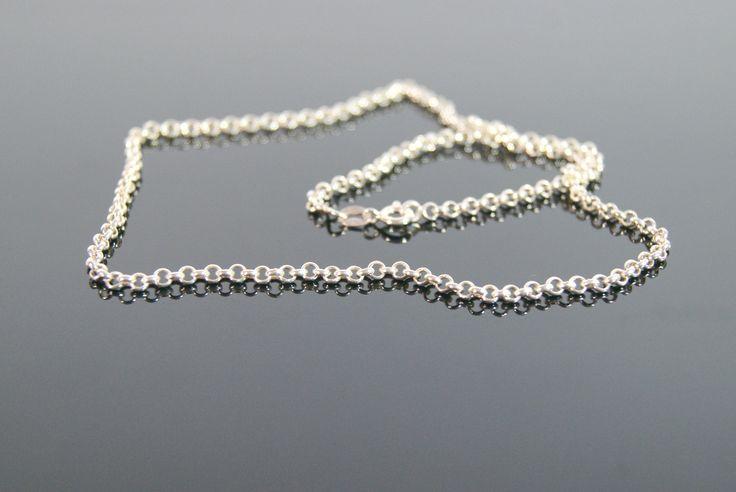 """925 Silver chain """"Rolo"""" - ambarico.com"""