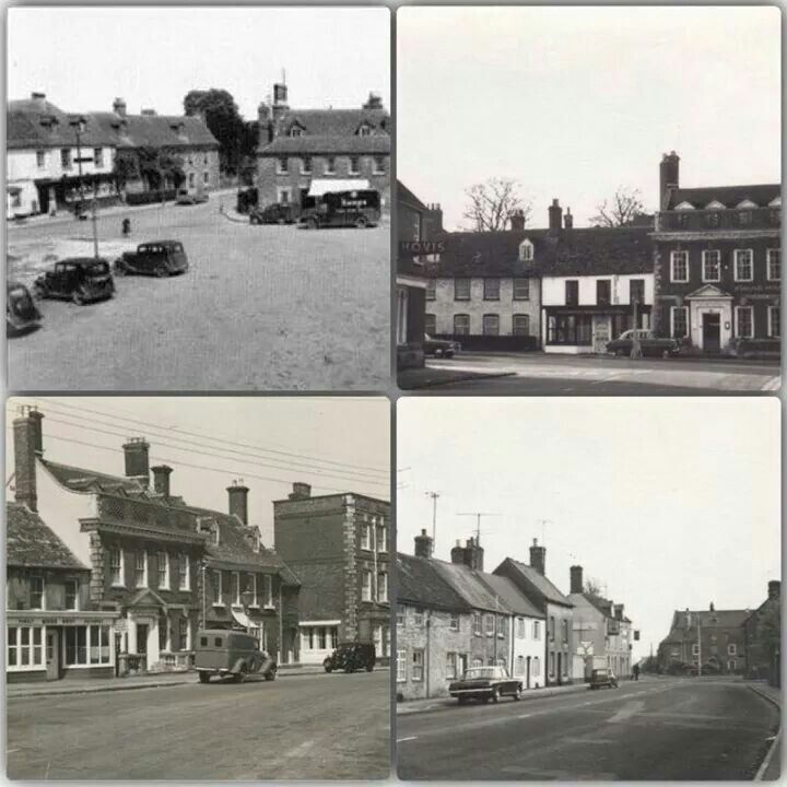 Top left town square car park. Top right  & bottom left the highworth. Bottom right looking towards the fox on the left.