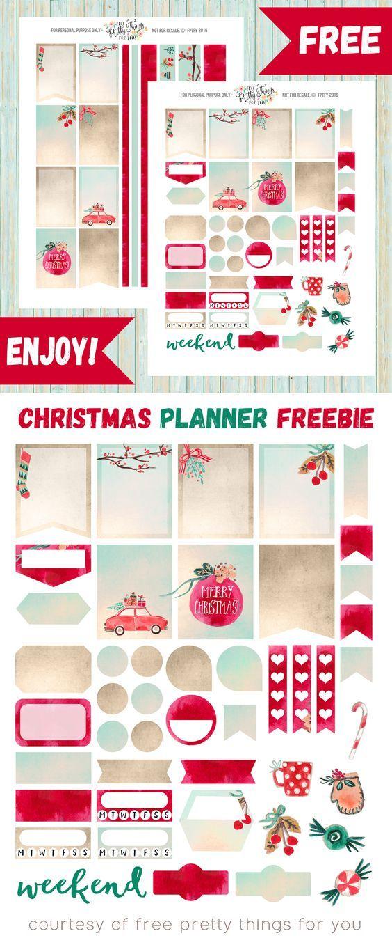 Free Christmas Planner Sticker Printables