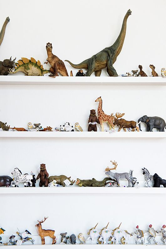 Dinosaur collection! kids toys on display at mapamundi / sfgirlbybay