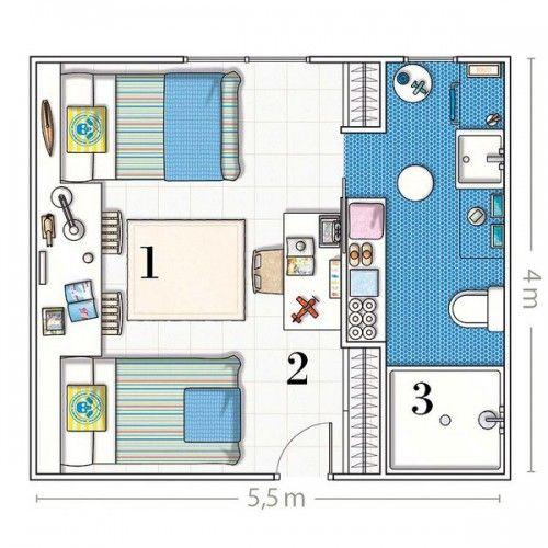 Baño Incorporado Dormitorio:dormitorio con baño incorporado