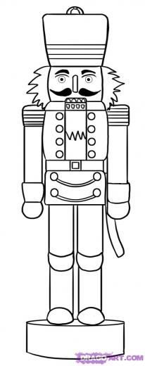Image detail for -Step 6. How to Draw a Nutcracker