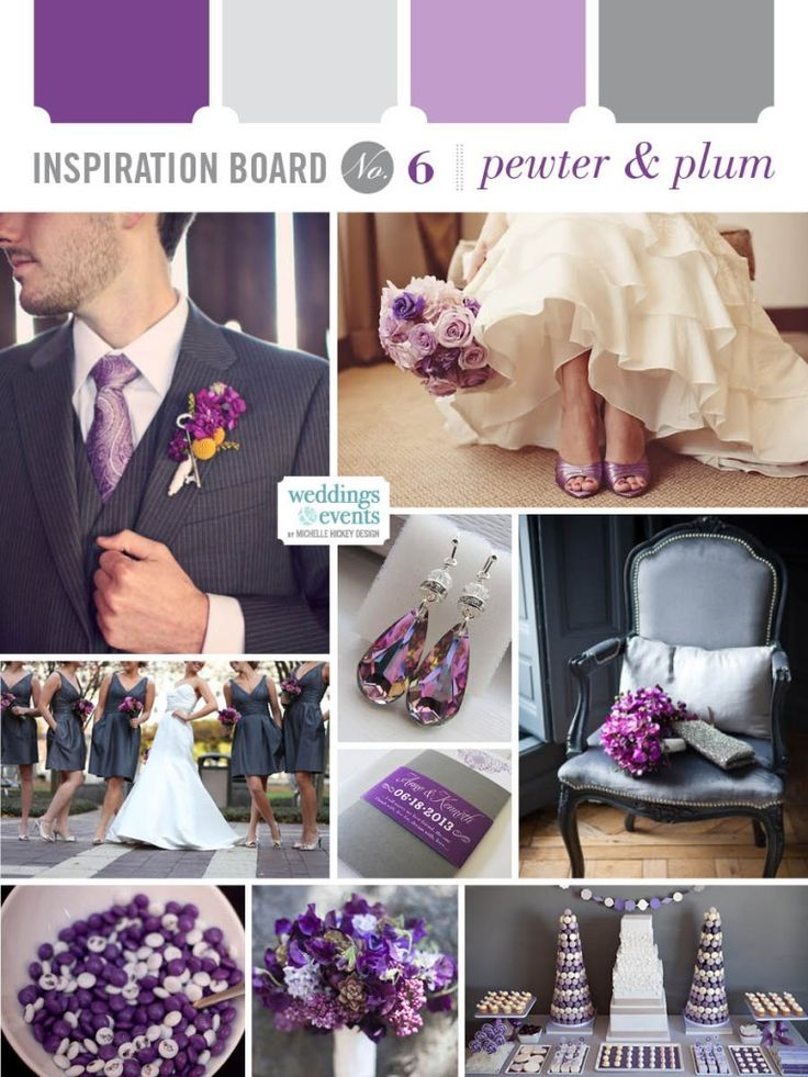 Inspiration Board 6 - pewter and plum