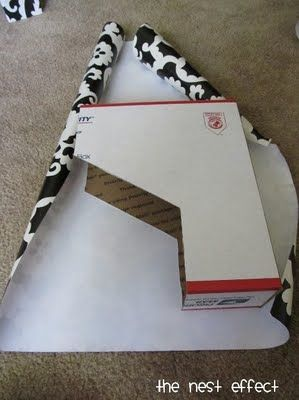 Must do this. Create book boxes from USED shipping boxes!