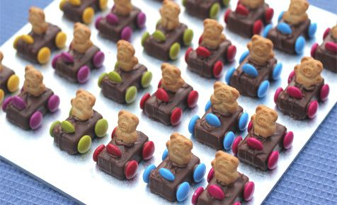 These beary-cute treats are perfect for a teddy bear's picnic. Check out Tiny Teddy cars, teddy bear pancakes and more teddy bear recipes.