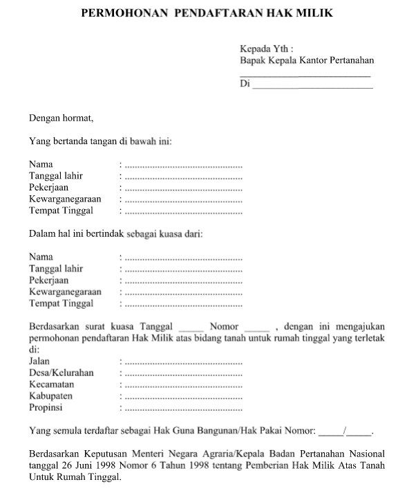 Contoh Application Letter Terbaik