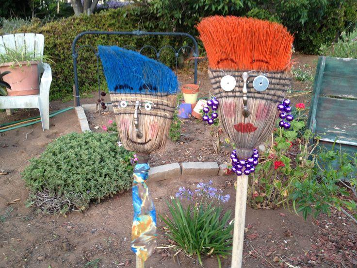Repurposed brooms!