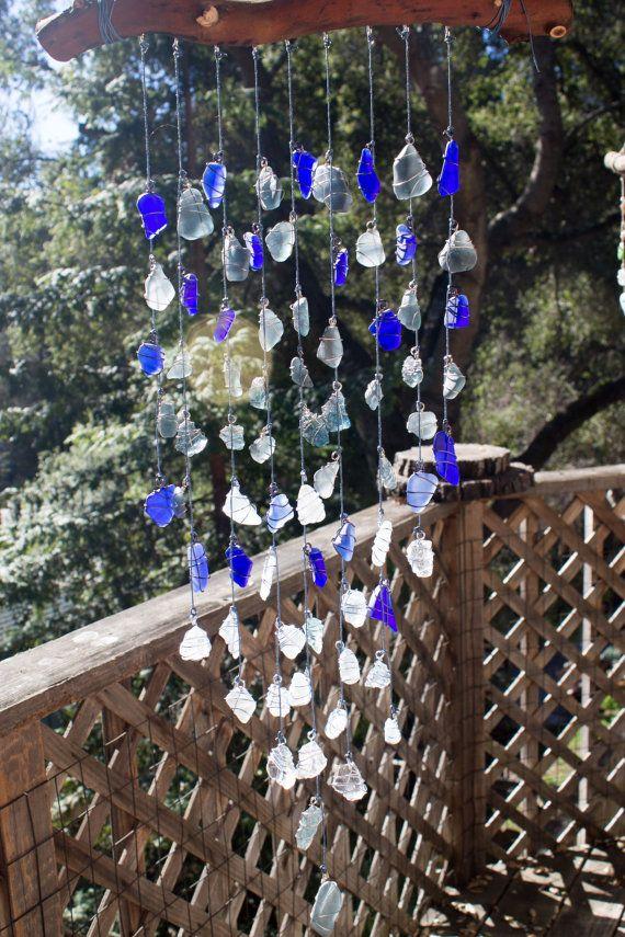 Free shipping  Sea glass wall art / Sea glass by CoastalArtistry1