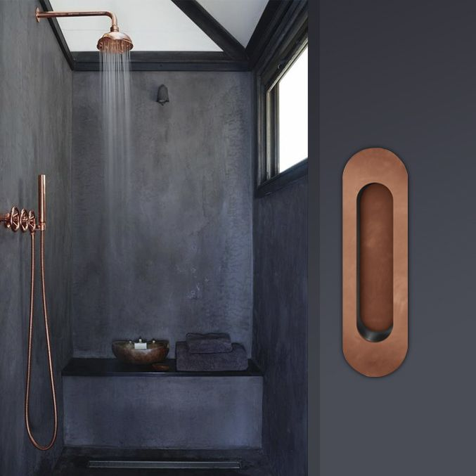 Tirador de encastar en acabado bronce claro. #pullhandle #arcon #tiradoresencastados #Flushpulls #hardware #builtinhandles