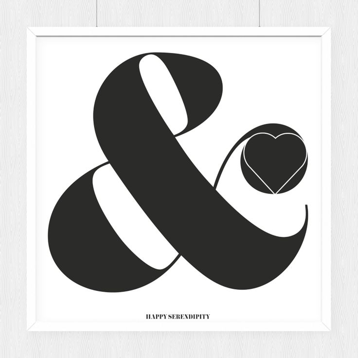 printable poster, love ampersand, free printable, freebie, wand deko