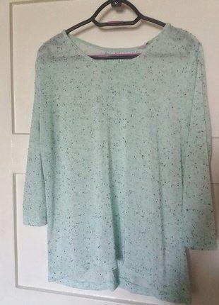 Kup mój przedmiot na #vintedpl http://www.vinted.pl/damska-odziez/bluzki-z-3-slash-4-rekawami/18095315-mietowa-bluzka-z-koronkowym-akcentem-z-tylu