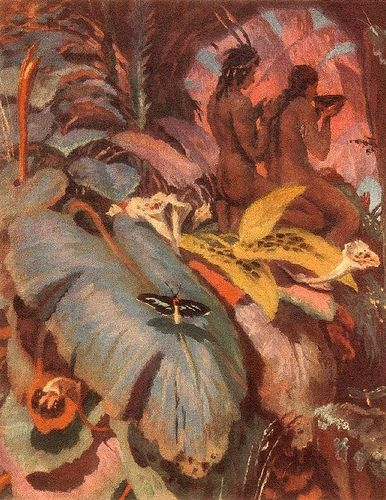 Svabinsky, Max (1873-1962) - 1927 Lovers in the Jungle