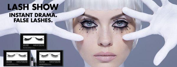 presentazione lash show make up for ever: nuove ciglia finte, impatto naturale o creativo; preview di truccaticoneva beauty blog e makeup artist