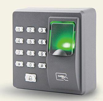 送料無料スタンドアロン指紋リーダーで125 Khz rfidカードリーダー防塵指紋アクセス制御ドア制御x6