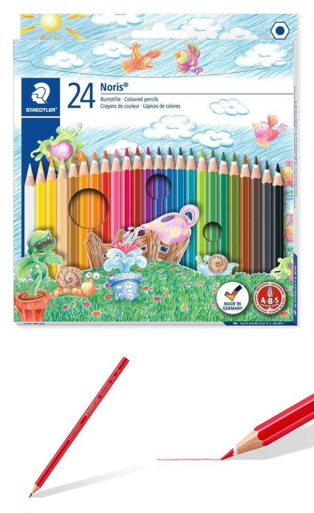 Kids Colouring Pencils Pack 24 Art Craft Drawing School Pencil Color