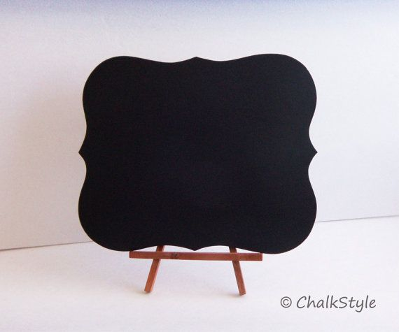 Chalkboard WITH STAND Rectangular Scroll Sturdy Wooden Chalk Board  Wedding Menu Sign Photo Prop Table Centerpiece Easel Included on Etsy, $14.00