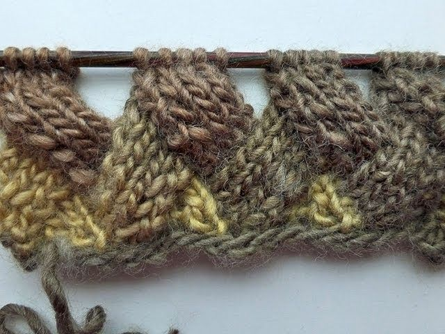 Knit with eliZZZa * Entrelac in Rows without Turning Work * Video #01 * Patchwork knitting