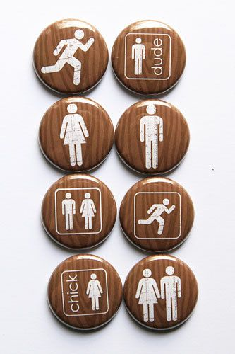 These are one inch flair buttons. Background is woodgrain. There are 8 buttons in this set. Icons from Robyn Meierotto for Pink Trike Designs.