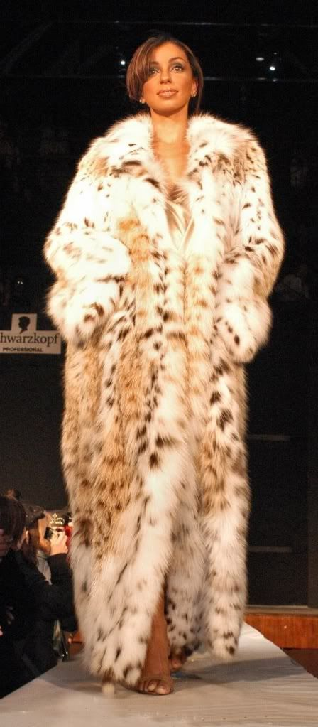 lynx fur coat, I would love to wear this!!!!!!!! You, me and every woman... Sumptuous!
