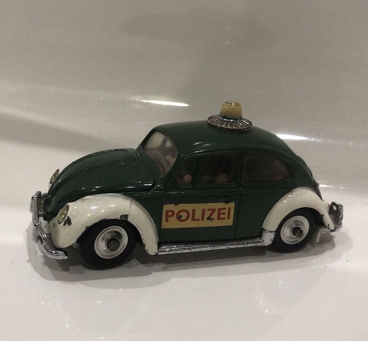 Vintage Corgi VW 1200 Saloon Police Car Volkswagen Blue Polizei Diecast Model    eBay