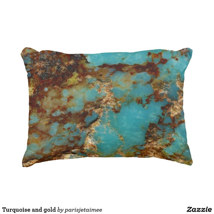 Turquoise and gold decorative pillow #turquoise #gold #parisjetaime #pillow