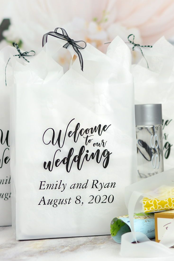 8 X 10 Frosted Wedding Welcome Bags Personalized Wedding Guest Bags Wedding Welcome Gifts Wedding Gifts For Guests