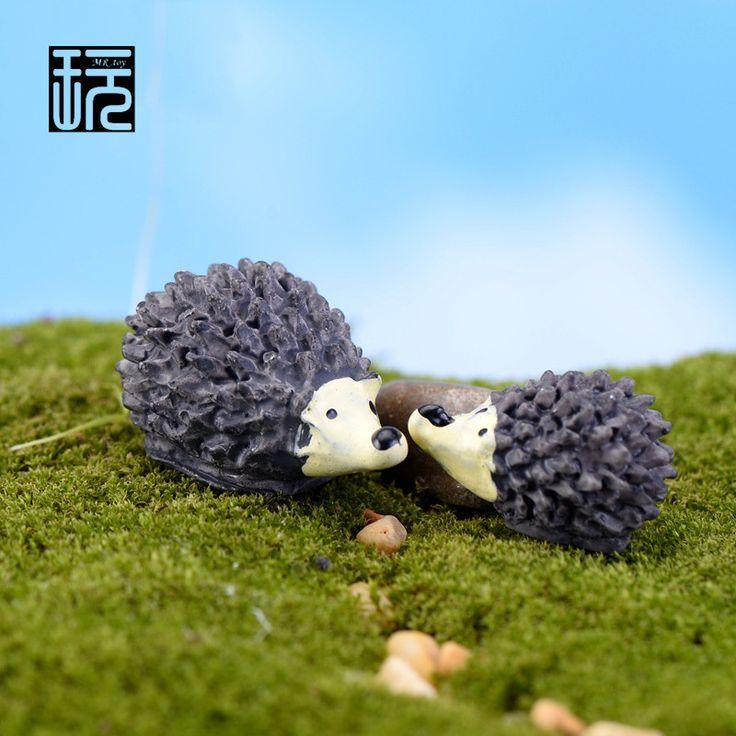 Resin Hedgehog Mum Baby Mini Fairy Garden Miniatures DIY Doll House/ Terrarium/ Home/ Succulents/ Micro Landscape Decorations
