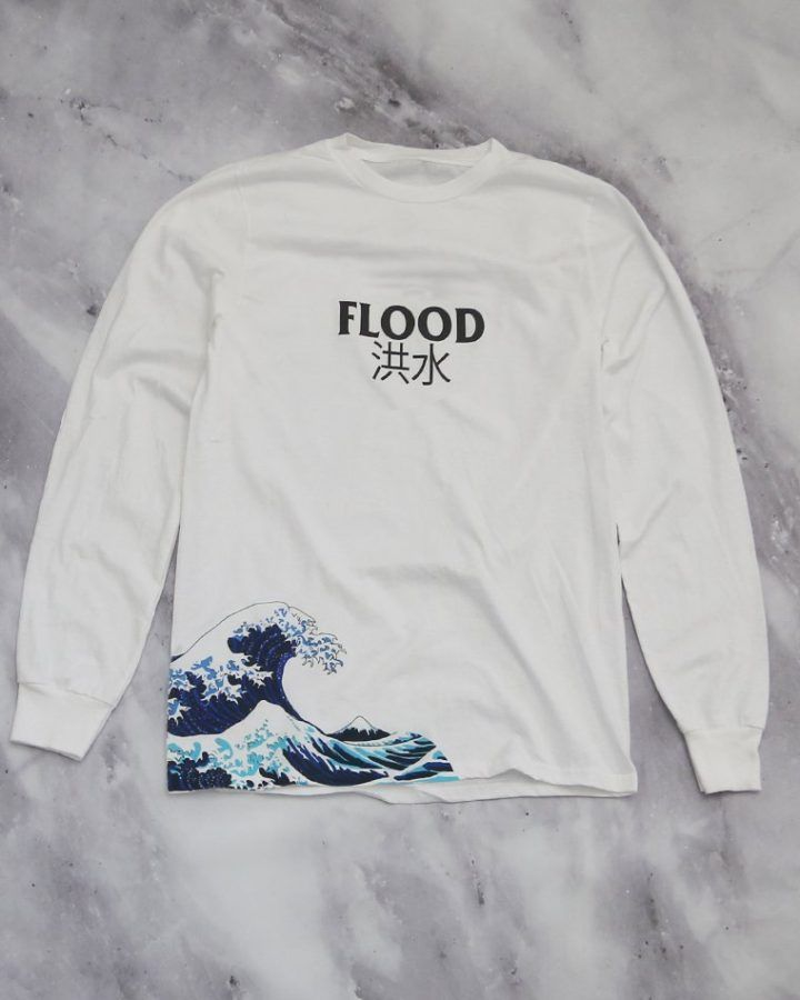 9e737ada415f Flood Waves White L/S Tee in 2019 | Wardrobe | Shirts, Fashion ...